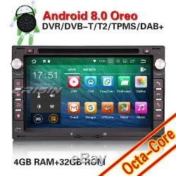 Android 8.0 Autoradio Navi For VW POLO PASSAT B5 GOLF 4 JETTA Sharan SEAT Skoda