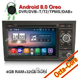 Android 8.0 DAB+Autoradio GPS NAVI WIFI 4G for Audi A4 S4 RS4 RNS-E Seat Exeo