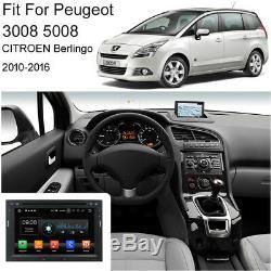 Android 8.0 Octa Core de voiture GPS de navi stéréo Peugeot 3008/5008 Berlingo
