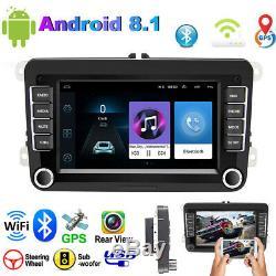 Android 8.1 7 2 DIN Autoradio GPS NAVI WIFI Pour VW GOLF 5 6 PASSAT POLO Caddy