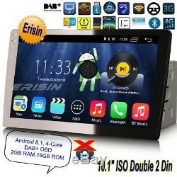 Android 8.1 Amovible 2 Din Autoradio Antivol DAB+ GPS TPMS TNT Navi 4G 10.13310