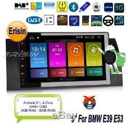 Android 8.1 BMW E39 Autoradio E53 5er X5 M5 TNT DAB+GPS OBD Navi 4G Wifi 92893F