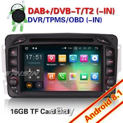 Android 8.1 DAB+Autoradio NAVI Mercedes Benz C/G/CLK class W203 W209 Viano VITO