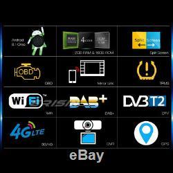 Android 8.1 Double din Autoradio GPS NAVI DAB+Bluetooth WIFI 4G OBD TNT DVB RDS