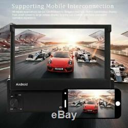 Android 8.1 GPS Navi Wifi Bluetooth 7 Autoradio Écran Pliable Lecteur MP5 1Din