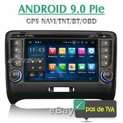 Android 9.0 Audi TT Autoradio tactile GPS Navi Bluetooth OBD2 TNT WiFi DAB+ USB