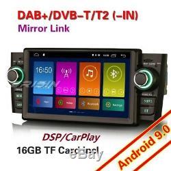 Android 9.0 Autoradio DAB+ Navi TNT Carplay DSP OBD2 TPMS WiFi Fiat Punto Linea