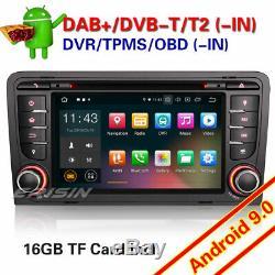 Android 9.0 DAB+ AUDI A3 S3 RS3 RNSE-PU Navi Autoradio WiFi+4G DVD TNT OBD2 TPMS