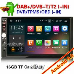 Android 9.0 DAB+ Navi Double 2Din Autoradio WiFi DVR 4G OBD TNT RDS FM Bluetooth