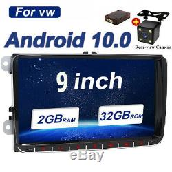 Android 9 2 DIN Autoradio GPS NAVI WIFI HD Pour VW GOLF 5 6 TOURAN PASSAT POLO