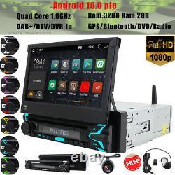 Autoradio 1 DIN Android 10.0 Car Bluetooth Wifi GPS NAVI USB DVD OBD AUX DAB+ TV