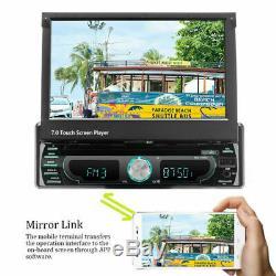 Autoradio 7 Android 8.0 1 DIN DVD GPS NAVI Stereo BT MP5 Player Écran Pliant