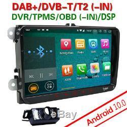 Autoradio 9 Android10.0 GPS Navi DAB+ WiFi pour Golf 5 6 Tiguan Passat EOS Seat