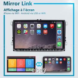 Autoradio 9 Android 8.1 2+32G GPS Navi 2DIN Pour VW GOLF 5 V PASSAT Tiguan POLO