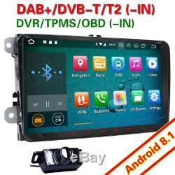 Autoradio 9 Android 8.1 GPS Navi DAB+ WiFi pour Golf 5 6 Tiguan Passat EOS Seat