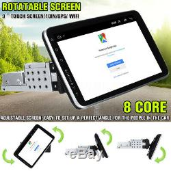 Autoradio 9'' Android 8.1 Stéréo 1DIN 8-core GPS Navi WiFi bluetooth Universel