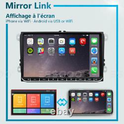 Autoradio 9 Android 9.1 2+32G GPS Navi 2DIN Pour VW GOLF 5 V PASSAT Tiguan POLO