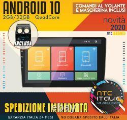 Autoradio Android 10 2GB/32GB Nissan Qashqai J10 Navi Commandes Volant Wifi
