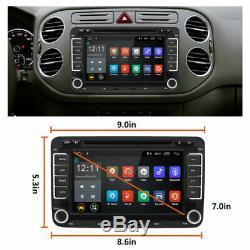 Autoradio Android 7.1 GPS Navi 2DIN DVD pour VW GOLF 5 PASSAT TOURAN POLO Caméra