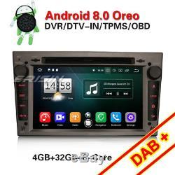 Autoradio Android 8.0 NAVI DAB+Opel Astra H Corsa C Vectra Zafira Antara Vivaro