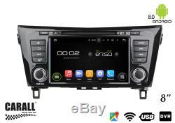 Autoradio Android 8,0 Nissan X-Trail Qashqai GPS DVD USB SD Wi-Fi Bluetooth Navi
