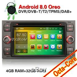 Autoradio Android 8.0 Tactile DVD GPS Navi BT DAB+ Ford C-Max Kuga Fiesta Fusion