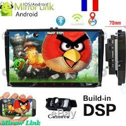 Autoradio Android 9.0 GPS Navi 2DIN DAB pour VW GOLF 5 PASSAT TOURAN POLO Caméra