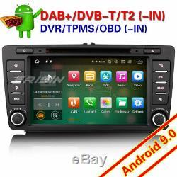Autoradio DAB+Android 9.0 For Skoda Octavia Yeti Superb GPS Wifi TNT 4G DVD Navi