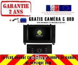 Autoradio DVD Gps Navi Android 8.0 4gb Dab+ Wifi Peugeot 407 V5588b