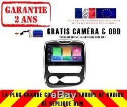 Autoradio DVD Gps Navi Android 8.0 4gb Dab+ Wifi Renault Clio 2017 V5388