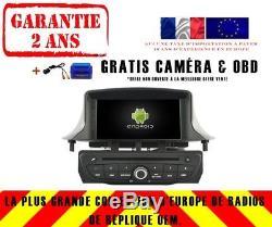 Autoradio DVD Gps Navi Android 8.1 Dab+ Bt Pour Renault Megane Iii/3 09+ Rh5515b