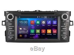 Autoradio DVD Gps Navi Android 8.1 Dab+ Bt Wifi Pour Toyota Auris 2007-11 Rh5730