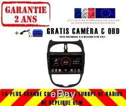 Autoradio DVD Gps Navi Android 8.1 Dab+ Peugeot 206 K5377