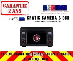 Autoradio DVD Gps Navi Android 8.1 Dab+ Wifi Bt Carplay Fiat Idea 2003-07 8718