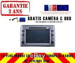 Autoradio DVD Gps Navi Android 8.1 Dab+ Wifi Bt Carplay Fiat Stilo 2002-10 8807