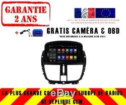 Autoradio DVD Gps Navi Android 8.1 Dab Wifi Usb Pour Peugeot 207 CC 07-14 Rh5395