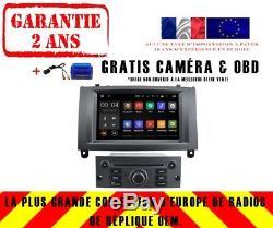 Autoradio DVD Gps Navi Android 8.1 Dab+ Wifi Usb Pour Peugeot 407 Rh5588 S