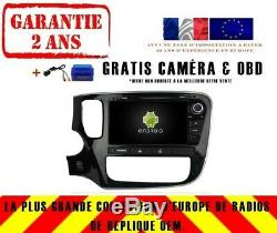 Autoradio DVD Gps Navi Android 9.0 4gb Bt Dab+ Wifi Mitsubishi Outlander Rv7086