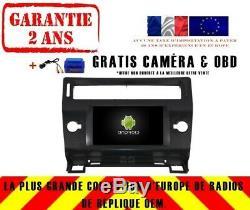 Autoradio DVD Gps Navi Android 9.0 4gb Dab+ Wifi Carplay Citroen C4 Rv5691b