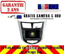 Autoradio DVD Gps Navi Android 9.0 4gb Dab+ Wifi Hyundai Solaris(11-12) Rv5711