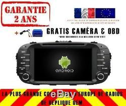 Autoradio DVD Gps Navi Android 9.0 Dab+ Kia Soul 2014+ Rv7006