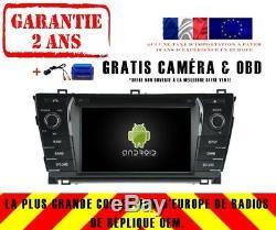 Autoradio DVD Gps Navi Android 9.0 Dab+ Toyota Corolla 2014 Rv5781