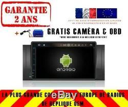 Autoradio DVD Gps Navi Android 9.0 Dab+ Wifi Bmw 5 X5 Séries E53 E39 Rv5318