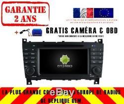 Autoradio DVD Gps Navi Android 9.0 Dab+ Wifi Mercedes C/clc/g-classe Rv5517