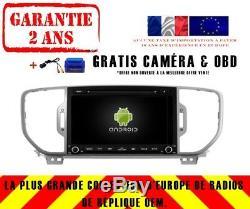 Autoradio DVD Gps Navi Android 9.0 Dab+ Wifi Usb Kia Sportage 2016+ Rv5580c