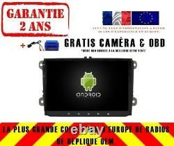Autoradio DVD Gps Navi Android 9.0 Dab+ Wifi Vw Scirocco Rv5339