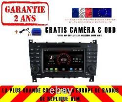 Autoradio DVD Gps Navi Android 9.1 Dab+ Bt Mercedes Benz CLC Classe 08-10 K5517