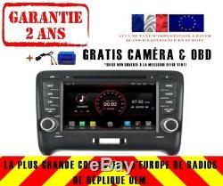Autoradio DVD Gps Navi Android 9.1 Dab+ Bt Usb Pour Audi Tt 2006-12 Bose K5525