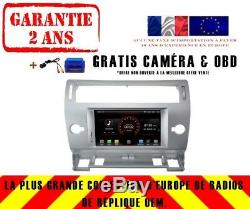 Autoradio DVD Gps Navi Android 9.1 Dab+ Carplay Wifi Bt Citroen C4 K5691s