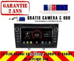 Autoradio DVD Gps Navi Android 9.1 Dab+ Peugeot 408 308 Rcz 2010-11 K5634b